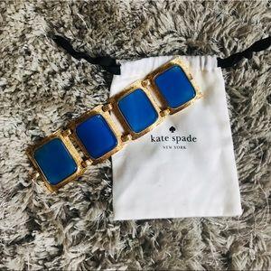 Statement Blue & Gold bracelet